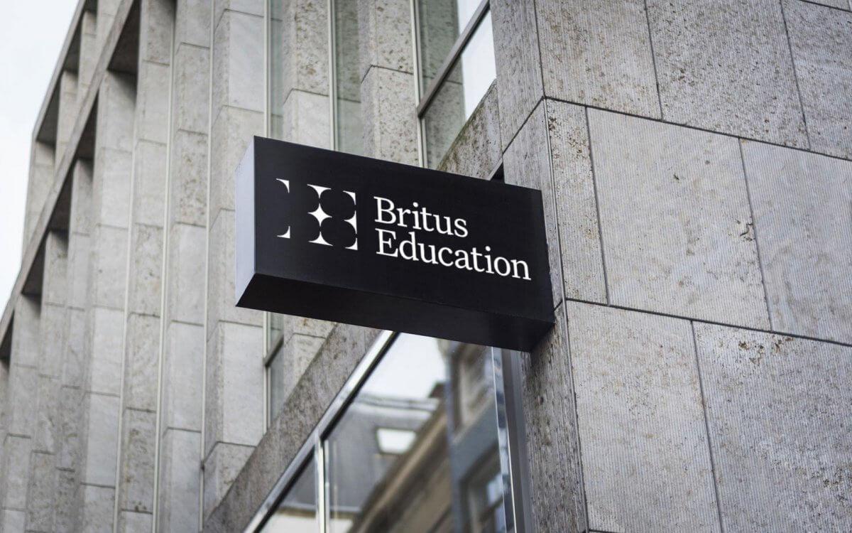 Britus education brand building signage