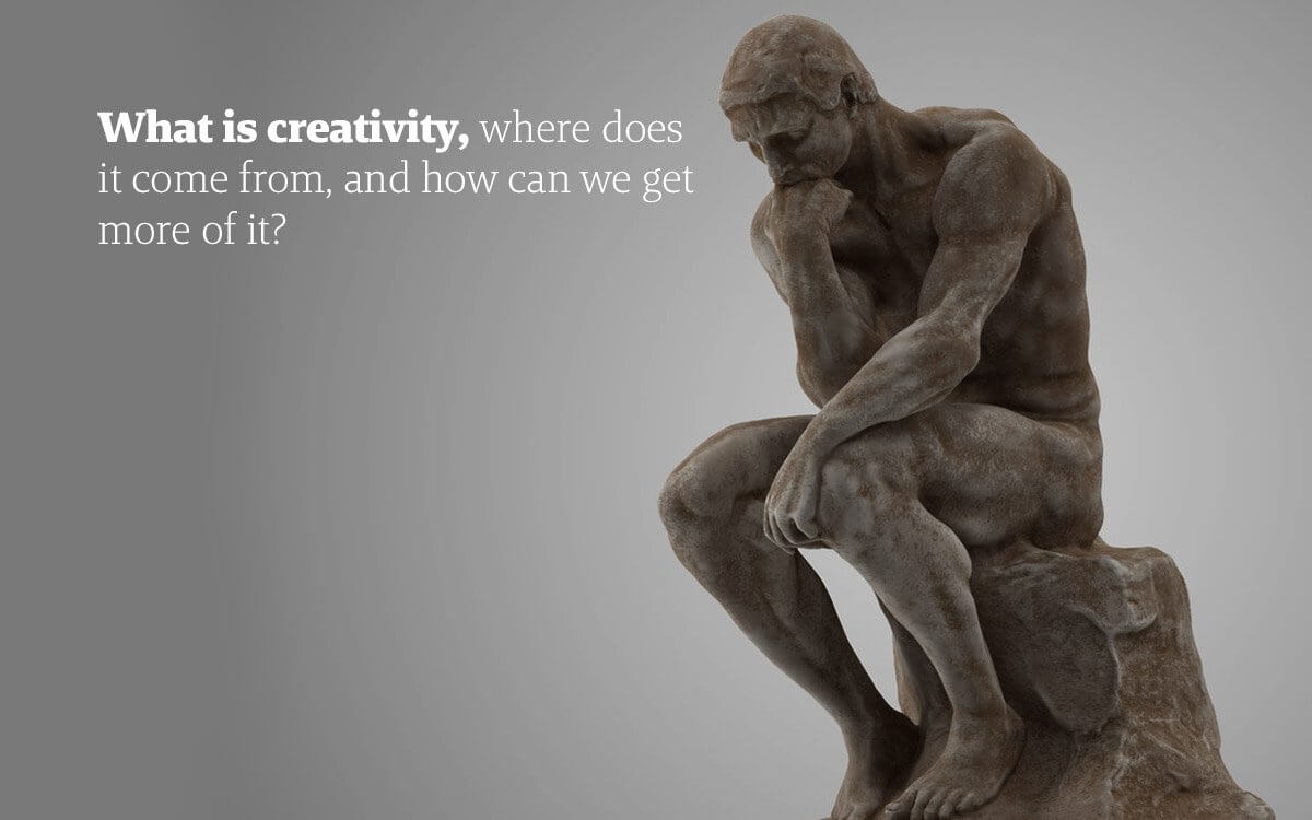 Creative thinking - an Image of August Rodin's The Thinker, a creative mind unleashed is great for business