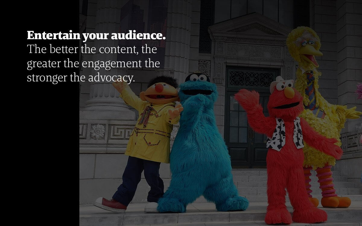 with content marketing you must entertain-the-audience